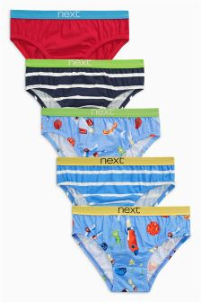 Space Briefs Five Pack (1.5-8yrs)
