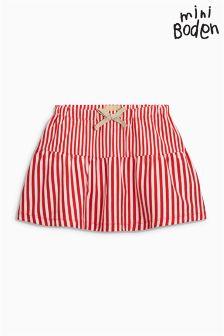 Boden Raspberry/Ivory Stripy Jersey Skirt