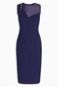 Simple  CLOTHING  KRISP  KRISP Gem Amp Sequin Embellished Occasion Dress