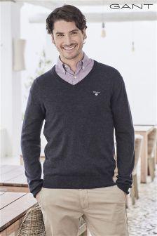 Gant V-Neck Knit Jumper