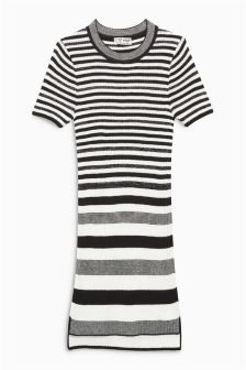 Knitted Stripe Dress (3-16yrs)
