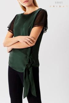 Coast Multi Katrina Mesh Cap Sleeve Top