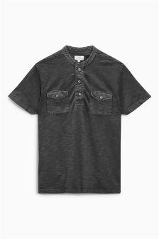 Double Pocket Grandad T-Shirt