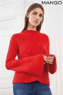 Mango Red Knit Jumper