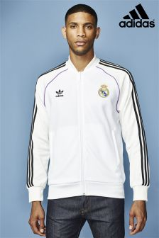 adidas Originals White Real Madrid Track Top