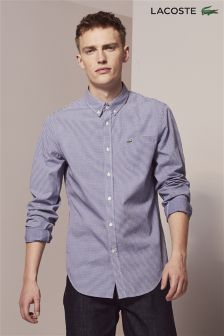 Lacoste® Navy Gingham Check Shirt