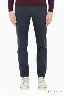 Ted Baker Slim Fit Casual Navy Trouser