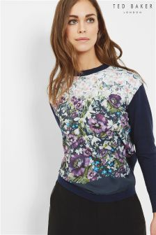 Ted Baker Dark Blue Jaysee Entangled Enchantment Jumper