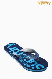 Superdry Navy Logo Flip Flop
