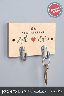 Personalised Couples Key Hook By Oakdene