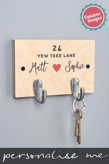 Personalised Couples Key Hook By Oakdene