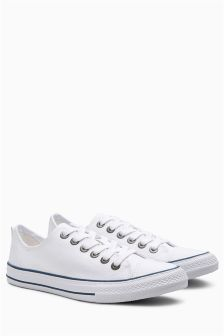 Canvas Lace-Up Baseball Pumps