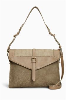 Panelled Satchel Bag