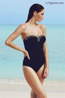 Black Figleaves Bandeau Swimsuit