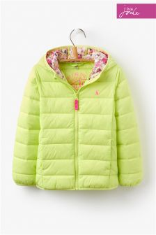 Joules Lime Kinnaird Pack Away Padded Jacket