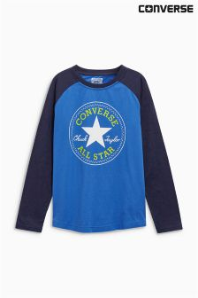 Converse Blue Long Sleeve Raglan T-Shirt