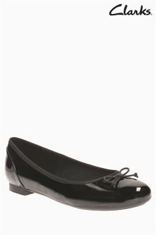 Clarks Black Patent Couture Bloom Ballet Shoe