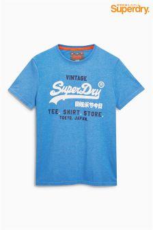 Superdry Blue Script Logo T-Shirt