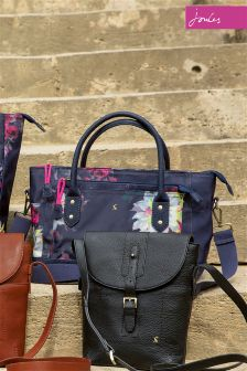 Joules Navy Floral Homerton Tote Bag