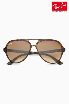 Ray-Ban® Tortoiseshell Cats 5000 Aviator Sunglasses