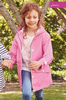 Joules Neon Pink Coast Showerproof Coat