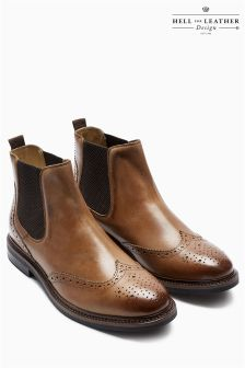 Mens Brogue Boots Available in Black, Brown & Tan | Next UK
