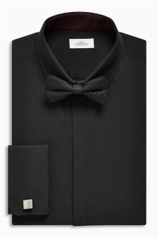 Slim Fit Shirt And Bow Tie Set