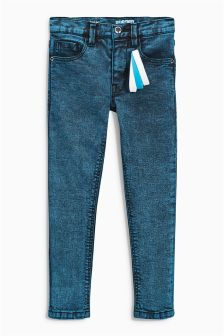 Denim Super Skinny Jeans With Wristbands (3-16yrs)
