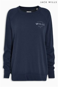 Jack Wills Navy Riverbay Sweat Crew Top