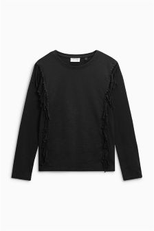 Long Sleeve Fringe Top (3-16yrs)