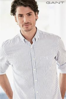 Gant Blue/White Hampton Stripe Oxford Shirt