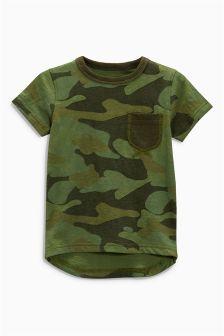 Camo Short Sleeve Appliqué T-Shirt (3mths-6yrs)