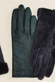 Laser Cut Pattern Gloves