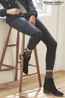 Ralph Lauren Denim & Supply Black Moto Jean