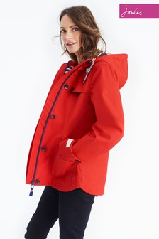 Joules Red Waterproof Hooded Coast Jacket