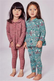 Floral Pyjamas Two Pack (9mths-8yrs)