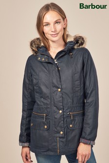 Barbour® Navy Kelsall Wax Parka