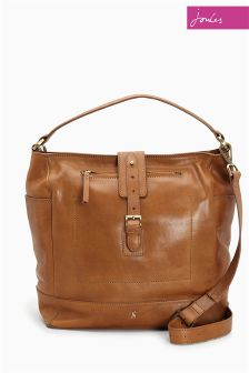 Joules Tan Belsize Leather Shoulder Bag