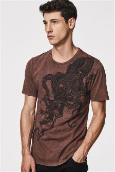Acid Wash Graphic T-Shirt