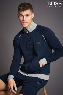 Boss Hugo Boss Navy/Grey Zip Through Top