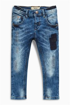 Distressed Stretch Jeans (3mths-6yrs)