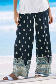 Print Wide Leg Trousers