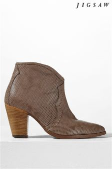 Jigsaw Mink Cowboy Ankle Boot