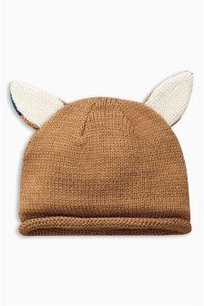 Knitted Fox Hat (0mths-2yrs)