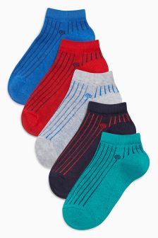 Sporty Trainer Liner Socks Five Pack (Younger Boys)