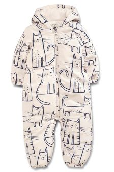 Cat Print Snowsuit (3mths-6yrs)