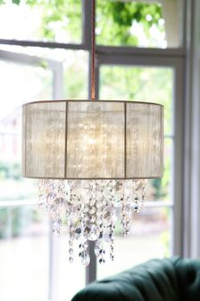 Palazzo Glass And String Shadelier Easy Fit Pendant
