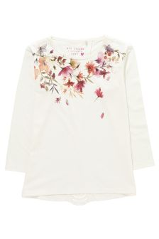 Floral Neck Detail T-Shirt (3-16yrs)