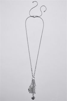 Organic Cluster Drop Necklace