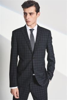 Check Skinny Fit Suit